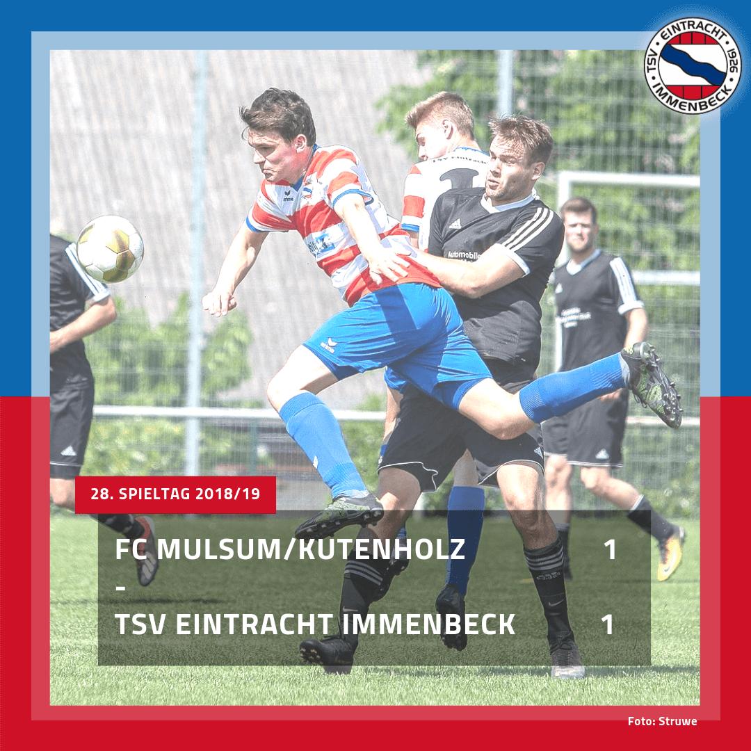1. Herren: Punkteteilung bei Mu/Ku – Eintracht macht den Klassenerhalt perfekt