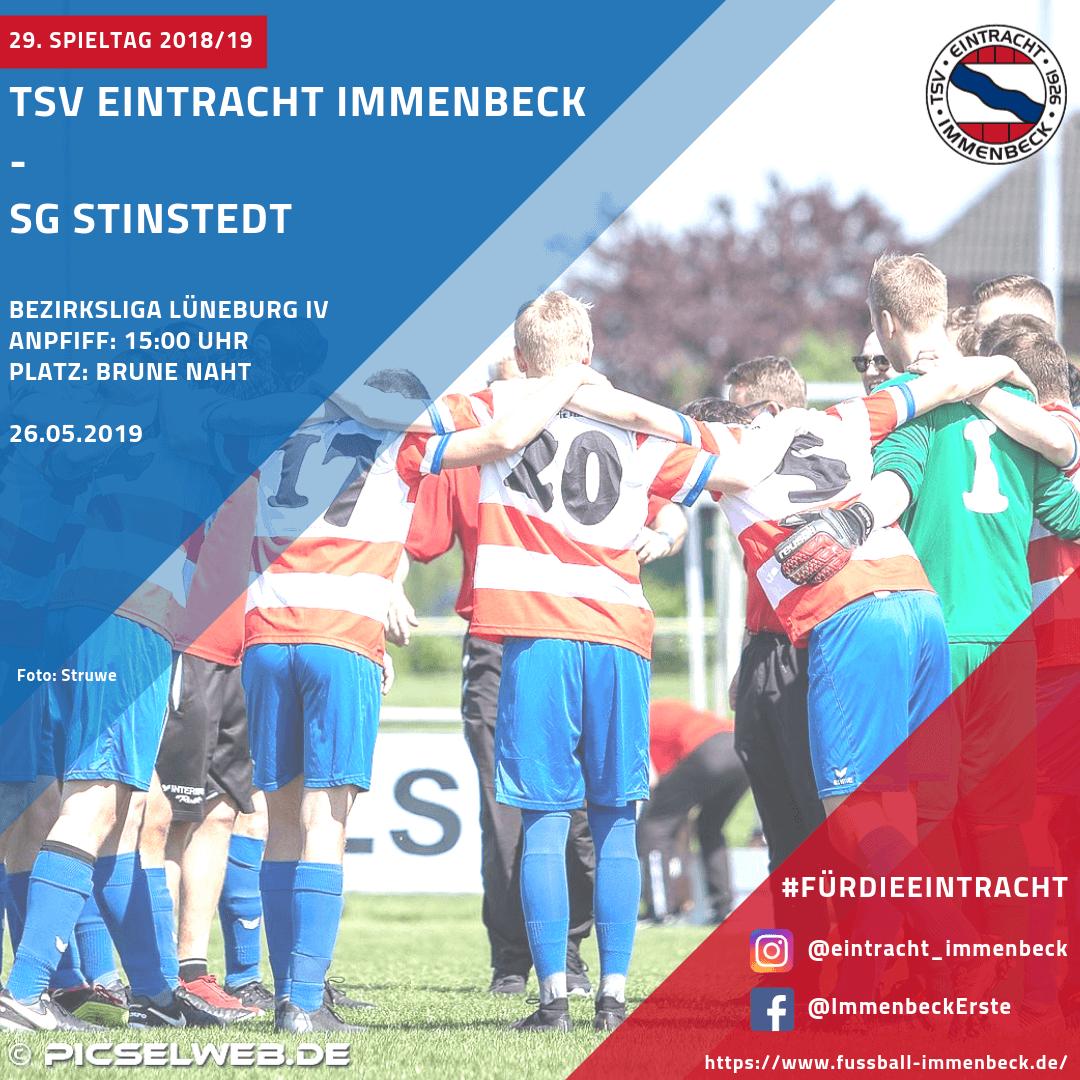 1. Herren: Eintracht empfängt im letzten Heimspiel die SG Stinstedt
